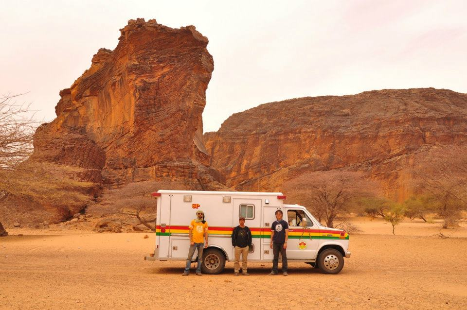 a rally team in Mauritania